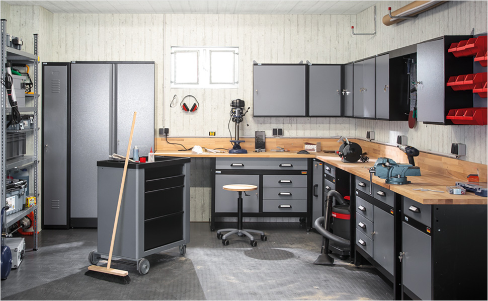 werkstatt mit system bei hornbach schweiz. Black Bedroom Furniture Sets. Home Design Ideas