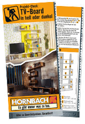 helles tv board bauen anleitung von hornbach schweiz. Black Bedroom Furniture Sets. Home Design Ideas