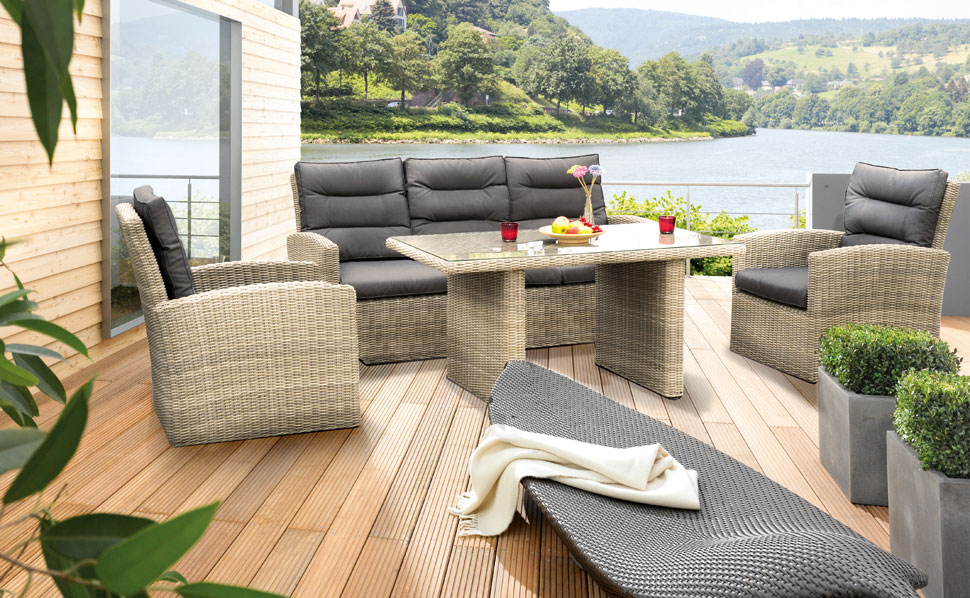 aussergew hnliche gartenm bel bei hornbach schweiz. Black Bedroom Furniture Sets. Home Design Ideas