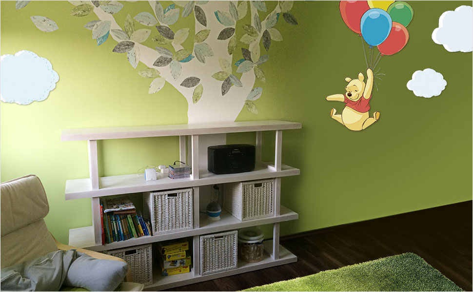 winnie pooh kinderzimmer bei hornbach schweiz. Black Bedroom Furniture Sets. Home Design Ideas