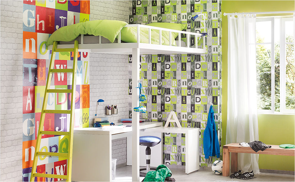 tapeten f rs kinderzimmer bei hornbach schweiz. Black Bedroom Furniture Sets. Home Design Ideas