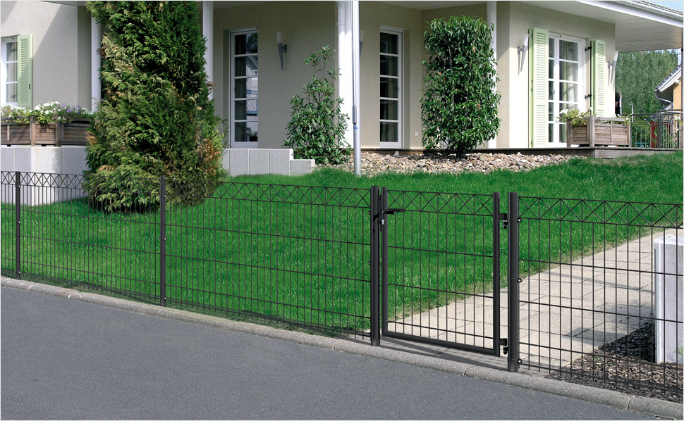 Guide cl ture en m tal et cl ture en fil m tallique de for Cloture metallique jardin