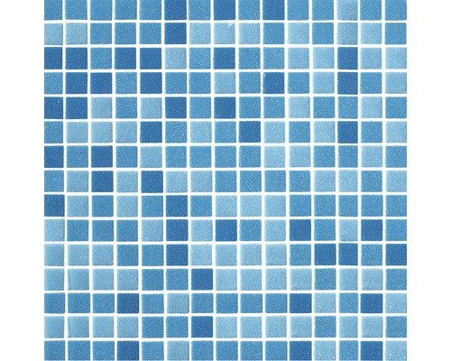 Carrelage Mosaque Piscine Mix Bleu 30x30 Cm