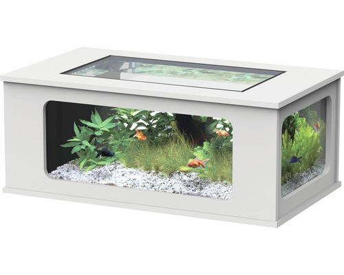 aquarium aqualantis aquatable led 130x75 cm weiss kaufen bei. Black Bedroom Furniture Sets. Home Design Ideas