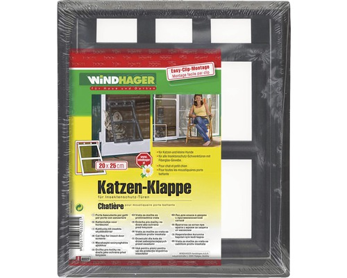 katzen klappe f r insektenschutz t ren dunkelbraun 20x25. Black Bedroom Furniture Sets. Home Design Ideas