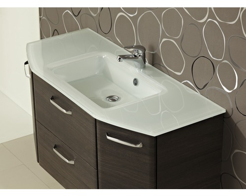 lavabo en verre mara blanc 112x48 cm acheter sur. Black Bedroom Furniture Sets. Home Design Ideas