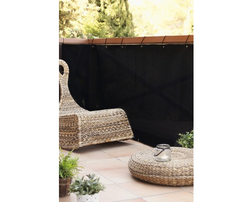 balkon sichtschutz rattan 300x90 cm schwarz kaufen bei. Black Bedroom Furniture Sets. Home Design Ideas