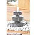 Terrassenbrunnen-Set Heissner Mill Fountain LED Poly Terrazzo 60x60x35 cm schwarz