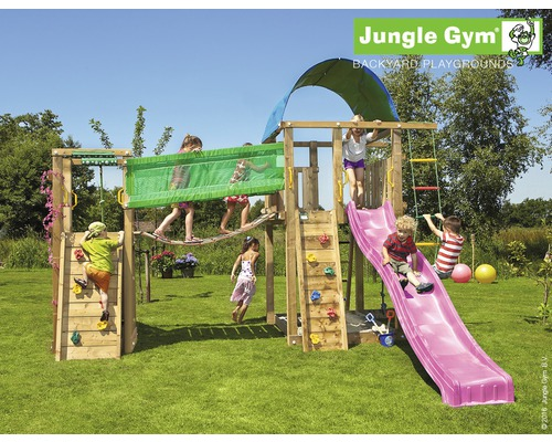 tour de jeux jungle gym villa bridge en bois avec bac sable mur d 39 escalade toboggan. Black Bedroom Furniture Sets. Home Design Ideas